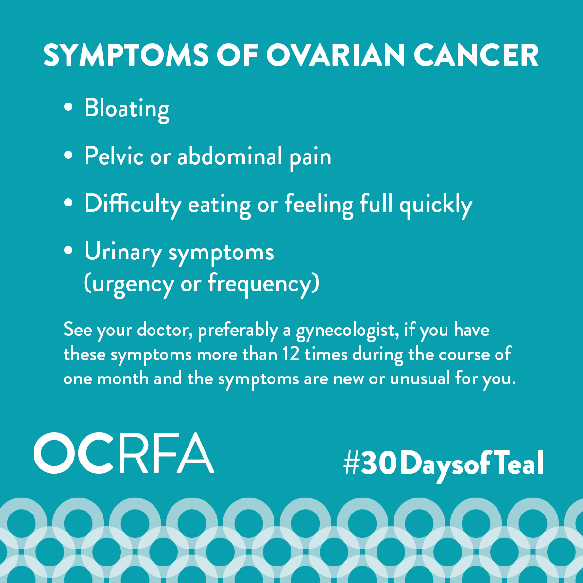 september is ovarian cancer awareness month  30daysofteal